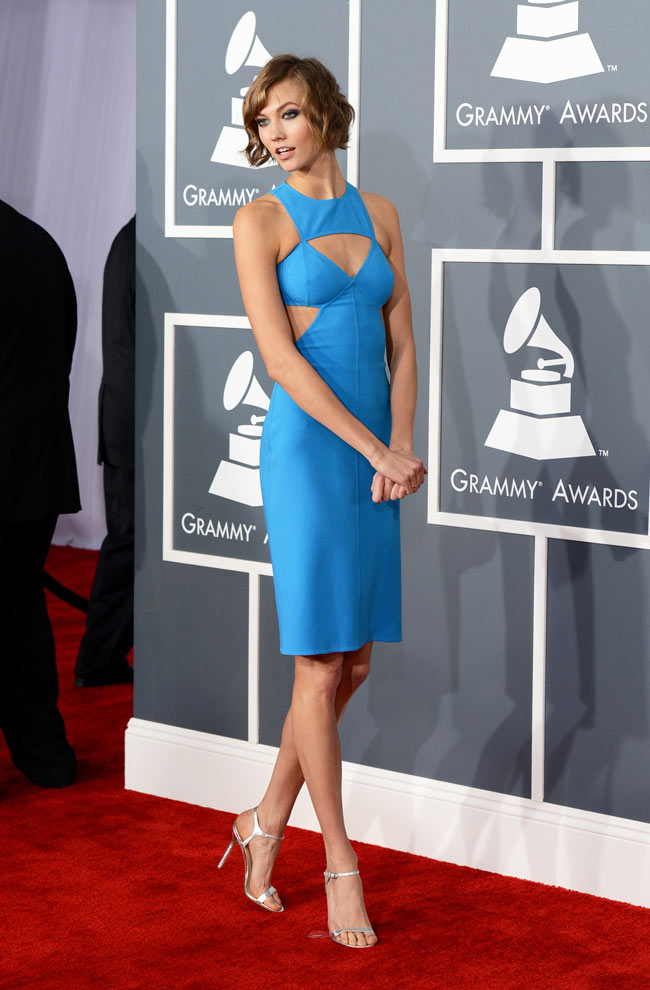 Karlie Grammys3 Karlie Kloss in Michael Kors at the 55th Annual Grammy Awards