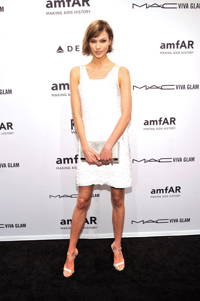 Karlie Kors1 Karlie Kloss in Michael Kors at the amfAR New York Gala