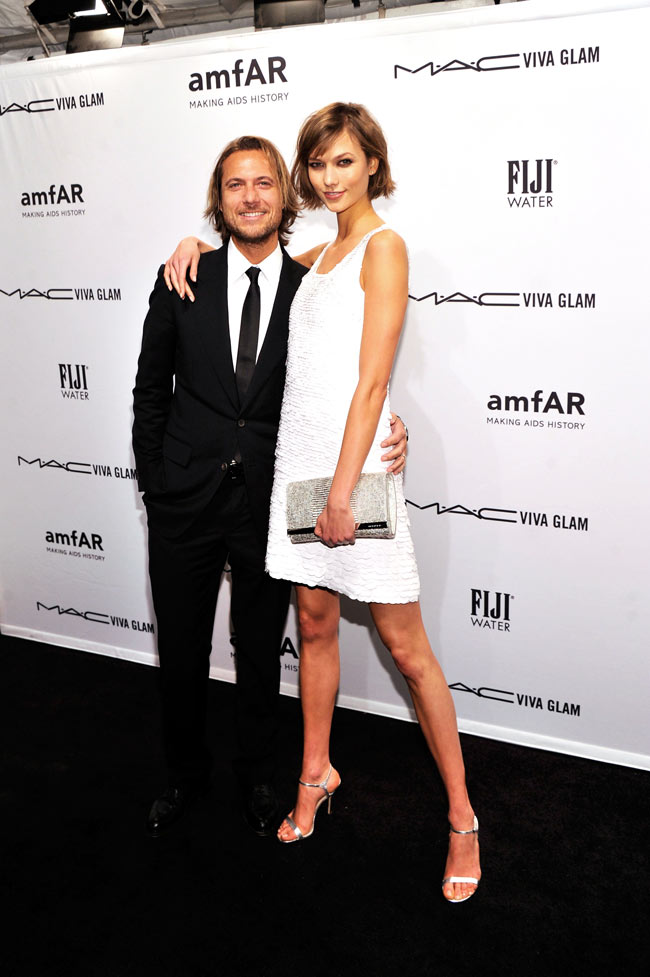 Karlie Kors3 Karlie Kloss in Michael Kors at the amfAR New York Gala
