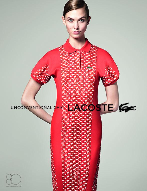 Lacoste Karlie3 Karlie Kloss Gets Sporty for Lacostes Spring 2013 Campaign by David Sims