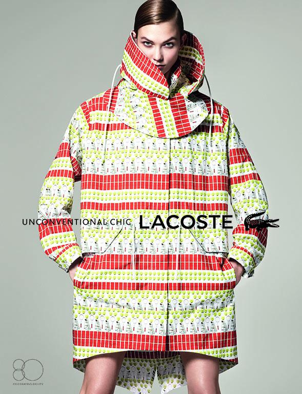 Lacoste Karlie4 Karlie Kloss Gets Sporty for Lacostes Spring 2013 Campaign by David Sims