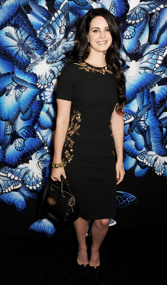 Lana Del Rey Lana Del Rey in Mulberry at the Mulberry Fall/Winter 2013 Show in London