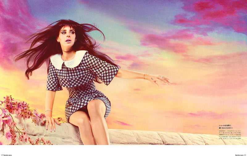 LanaNumeroJP3 Lana Del Rey Stars in Manga Inspired Shoot for Numéro Tokyo by Mariano Vivanco