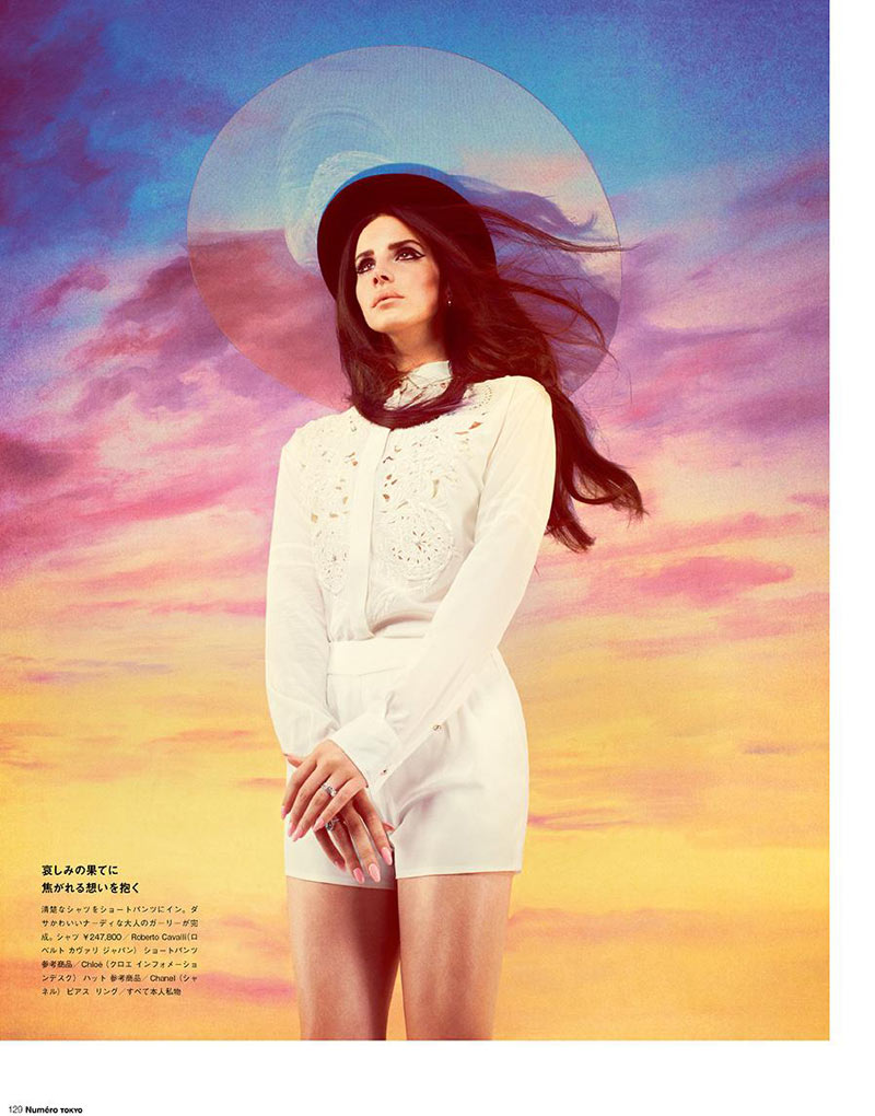 LanaNumeroJP4 Lana Del Rey Stars in Manga Inspired Shoot for Numéro Tokyo by Mariano Vivanco