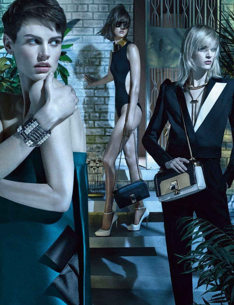 LanvinSpring1 Karlie Kloss, Saskia de Brauw and Daria Strokous Star in Lanvin Spring 2013 Campaign by Steven Meisel