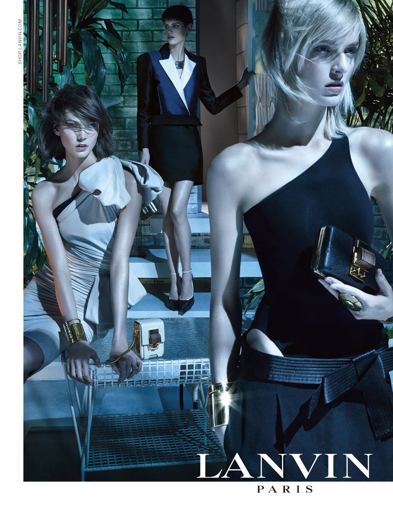 LanvinSpring2 Karlie Kloss, Saskia de Brauw and Daria Strokous Star in Lanvin Spring 2013 Campaign by Steven Meisel