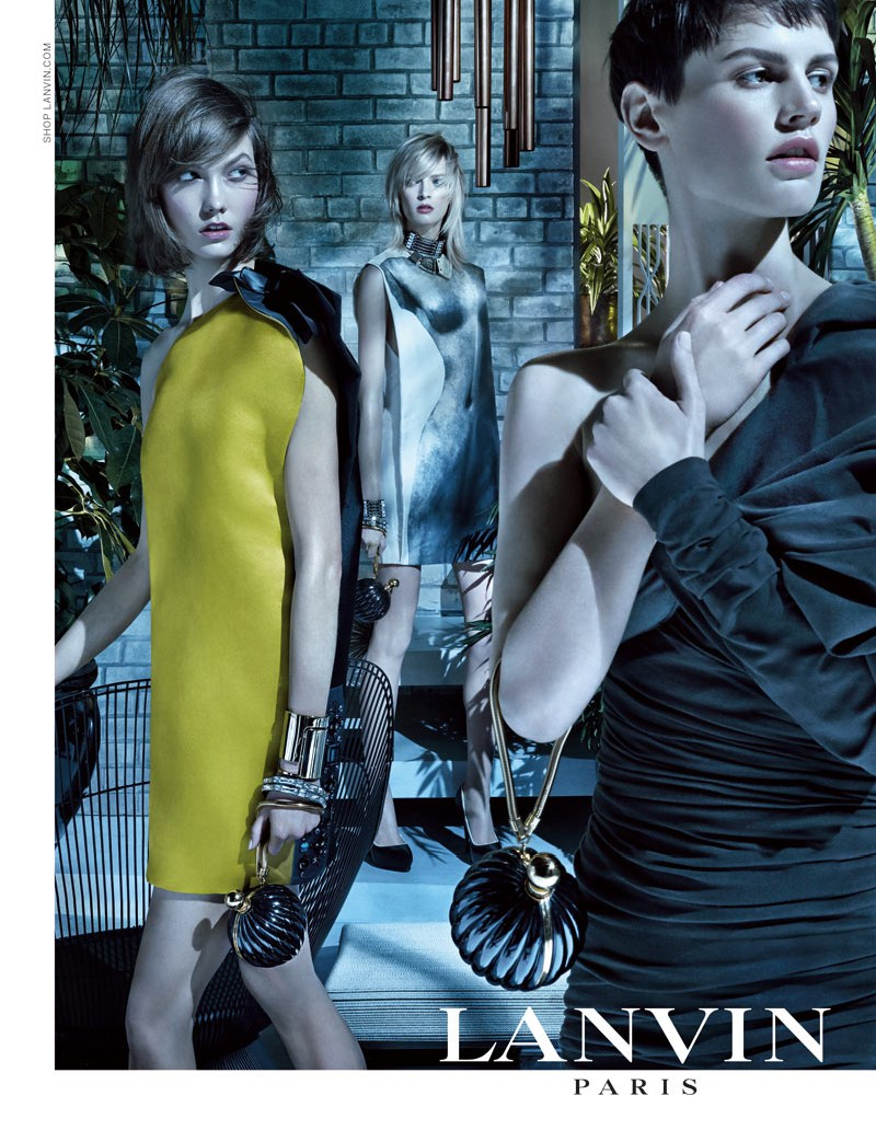 LanvinSpring4 Karlie Kloss, Saskia de Brauw and Daria Strokous Star in Lanvin Spring 2013 Campaign by Steven Meisel