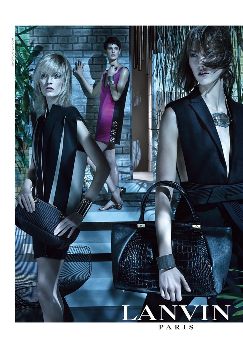 LanvinSpring7 Karlie Kloss, Saskia de Brauw and Daria Strokous Star in Lanvin Spring 2013 Campaign by Steven Meisel