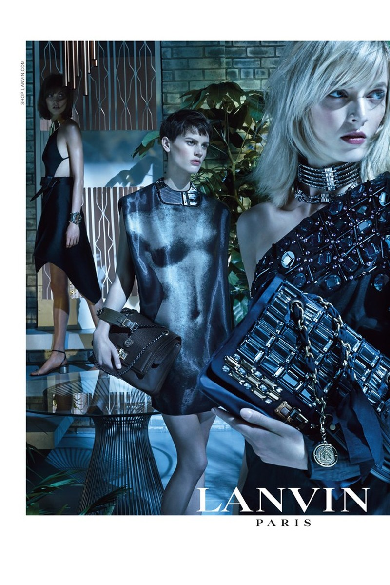 LanvinSpring8 Karlie Kloss, Saskia de Brauw and Daria Strokous Star in Lanvin Spring 2013 Campaign by Steven Meisel