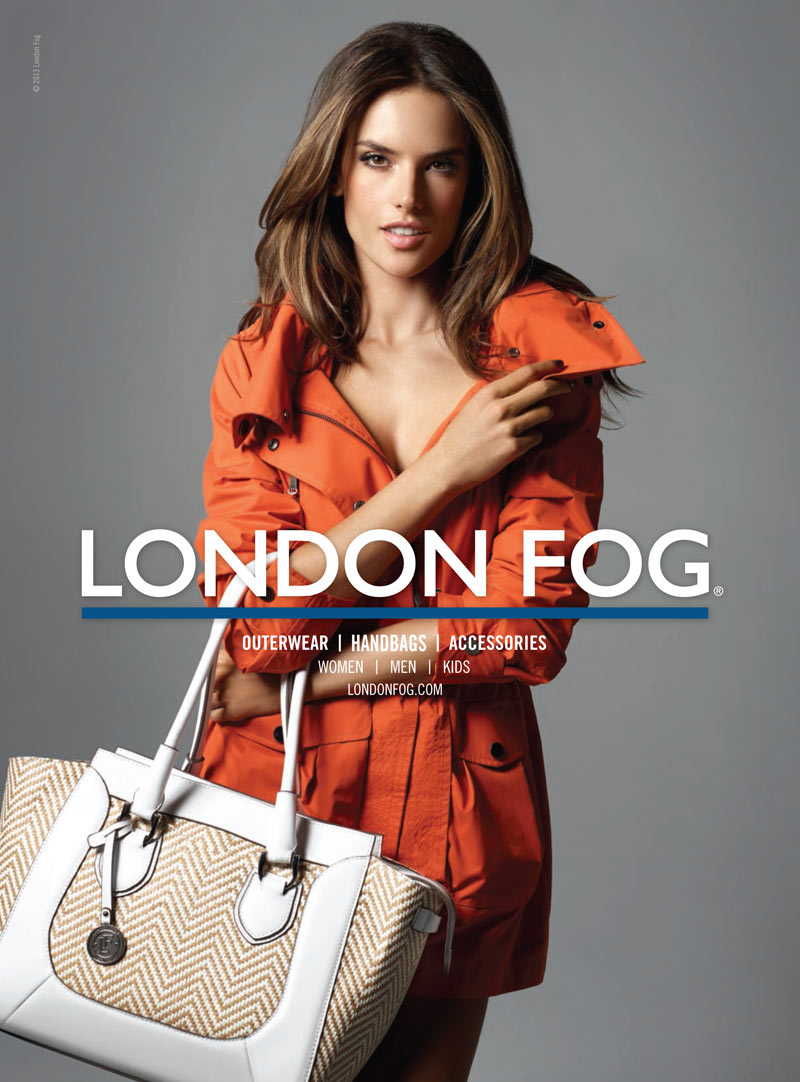 LondonFogS13 1 Alessandra Ambrosio Returns for London Fogs Spring 2013 Campaign