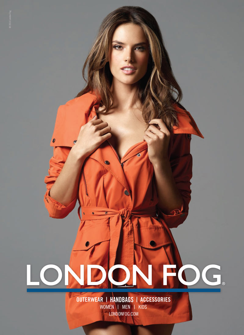 LondonFogS13 2 Alessandra Ambrosio Returns for London Fogs Spring 2013 Campaign