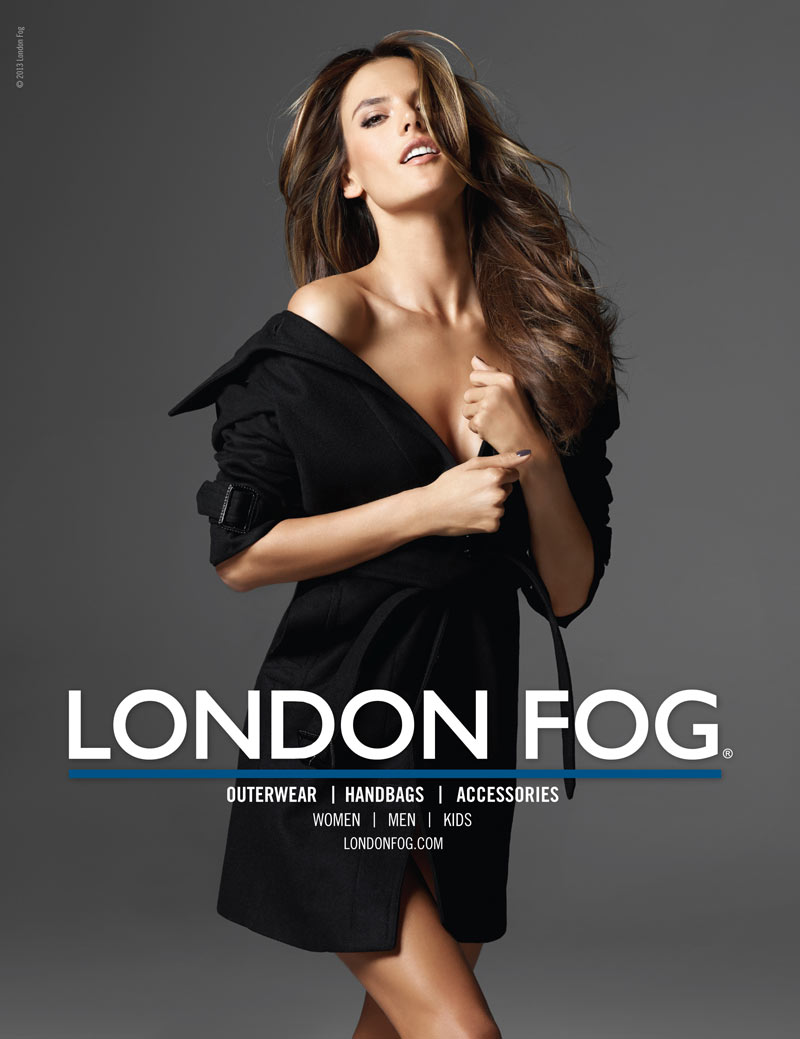 LondonFogS13 3 Alessandra Ambrosio Returns for London Fogs Spring 2013 Campaign