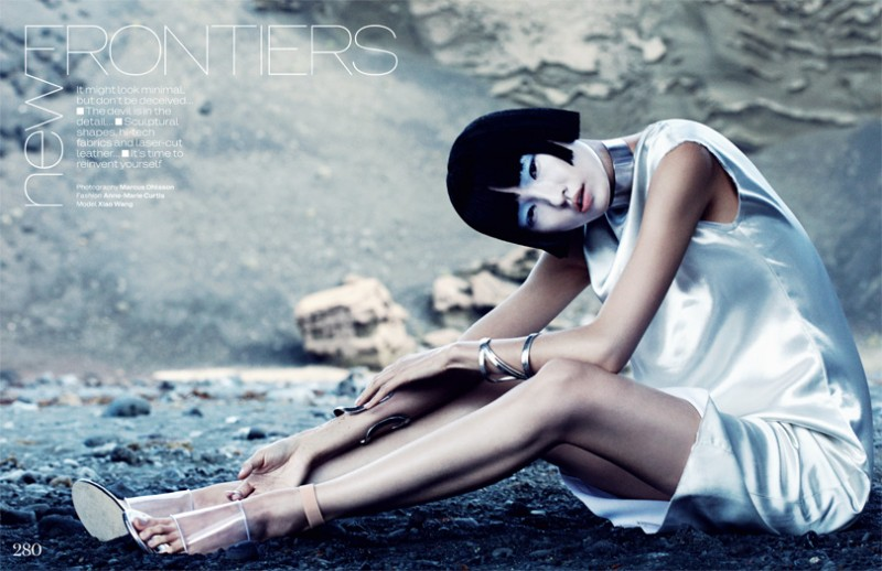 MO elleminimal 1 800x518 Wang Xiao Dons Futuristic Style for Elle UK March 2013 by Marcus Ohlsson