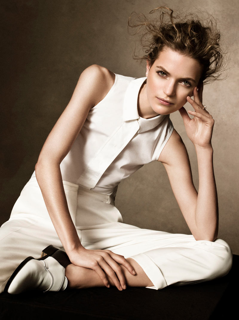 MagdaHB1 Magdalena Langrova Poses for Victor Demarchelier in Harpers Bazaar UK March 2013