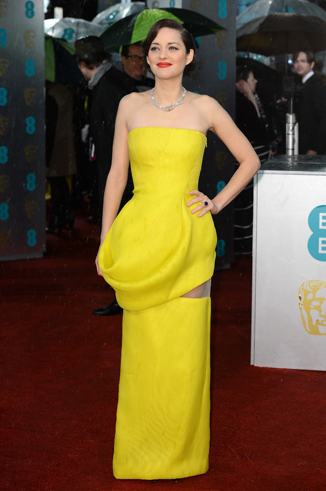 Marion Dior1 Marion Cotillard in Dior Haute Couture at the 2013 BAFTA Awards