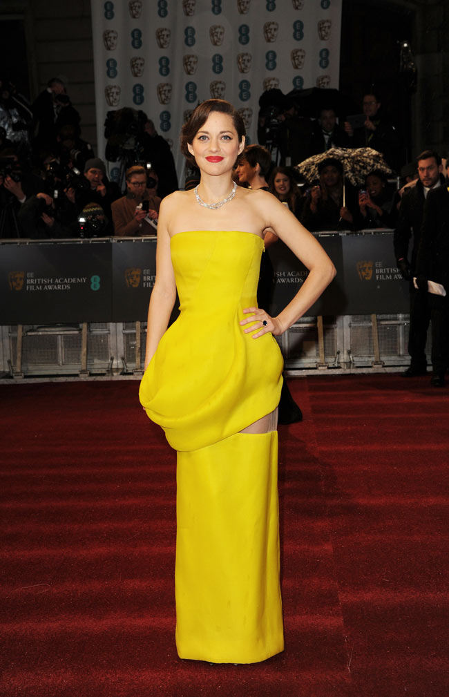 Marion Dior2 Marion Cotillard in Dior Haute Couture at the 2013 BAFTA Awards