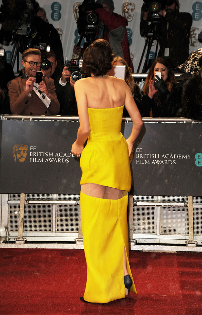 Marion Dior3 Marion Cotillard in Dior Haute Couture at the 2013 BAFTA Awards
