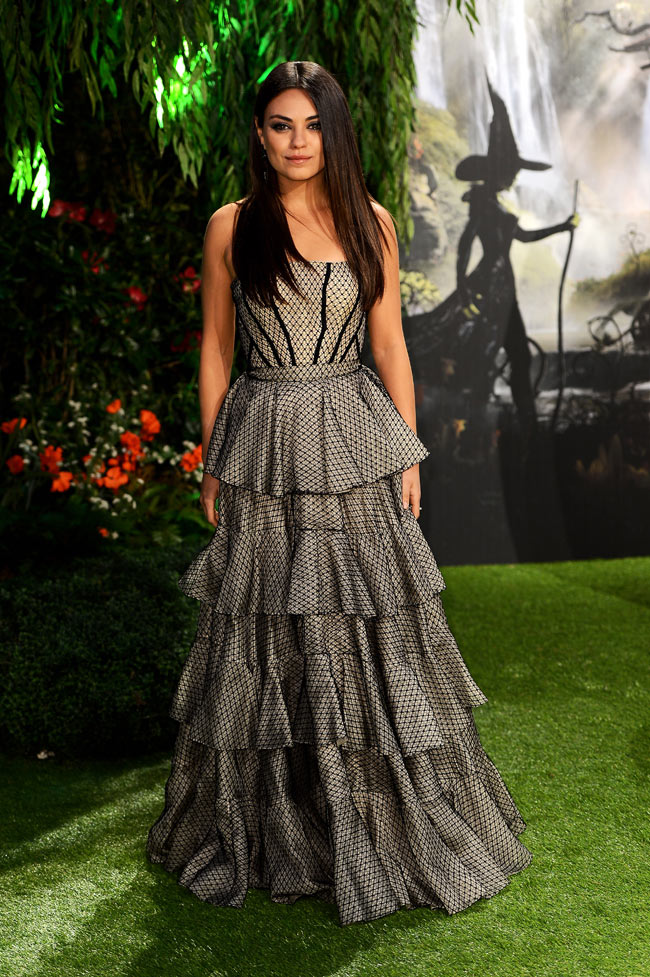 "Mila Kunis in Alexander McQueen at ""Oz The Great and Powerful"" London Premiere"