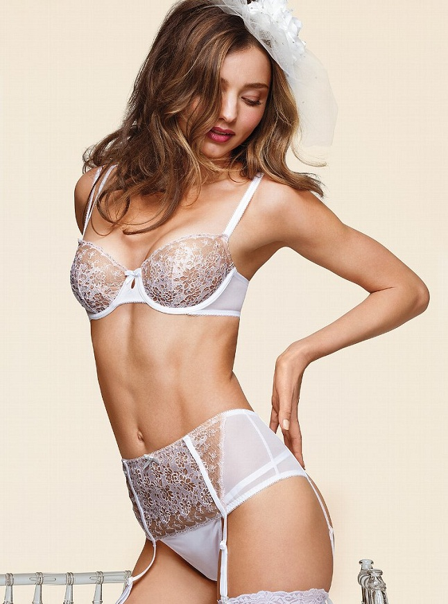 Miranda Kerr Bridal VS1 Miranda Kerr is a Sexy Bride for the Victorias Secret Bridal Lingerie Collection