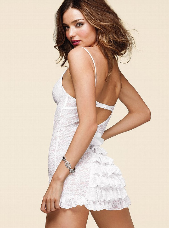 Miranda Kerr Bridal VS12 Miranda Kerr is a Sexy Bride for the Victorias Secret Bridal Lingerie Collection