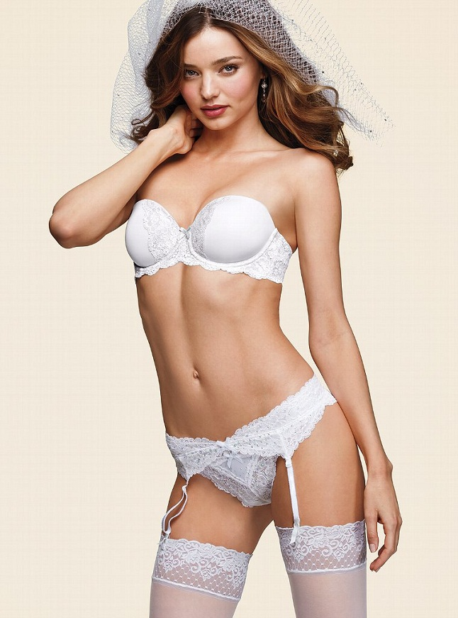 Miranda Kerr Bridal VS5 Miranda Kerr is a Sexy Bride for the Victorias Secret Bridal Lingerie Collection