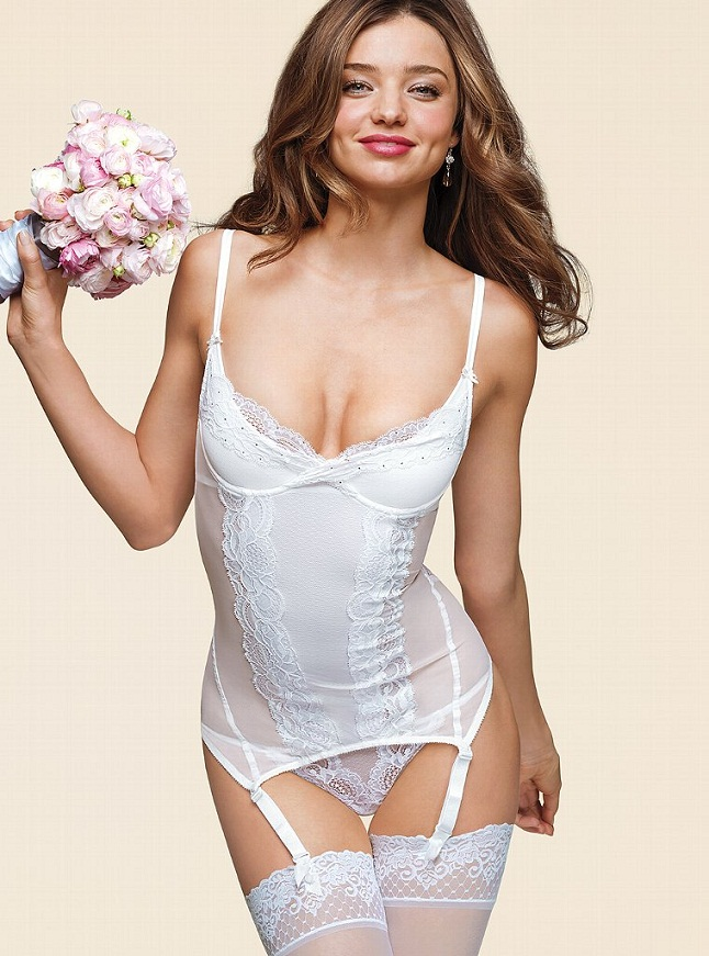 Miranda Kerr Bridal VS6 Miranda Kerr is a Sexy Bride for the Victorias Secret Bridal Lingerie Collection
