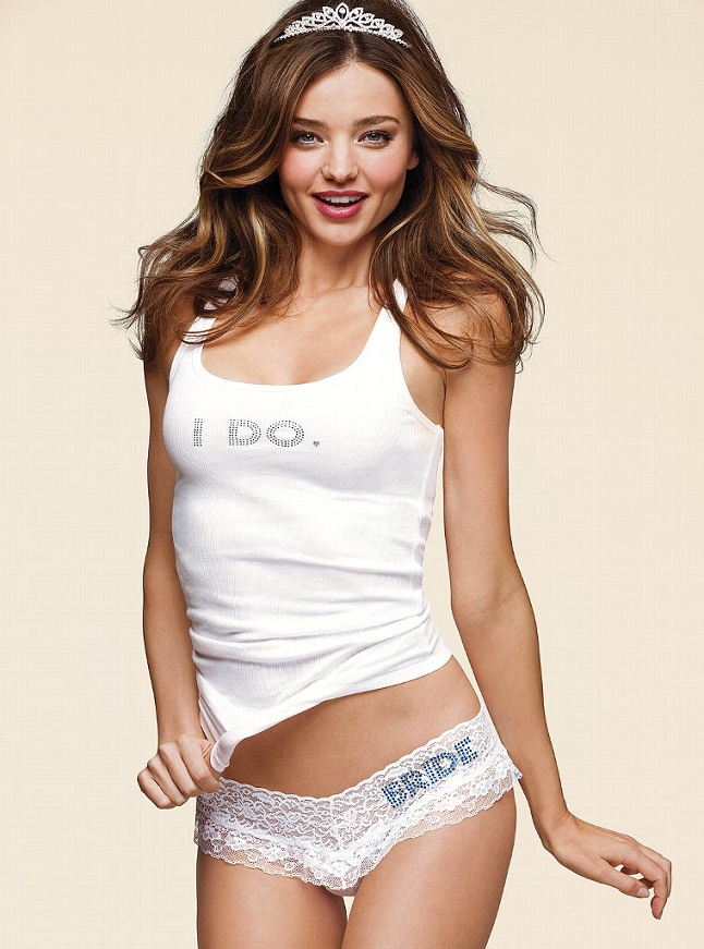 Miranda Kerr Bridal VS7 Miranda Kerr is a Sexy Bride for the Victorias Secret Bridal Lingerie Collection
