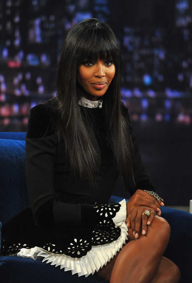 Naom Campbell2 Naomi Campbell in Alexander McQueen at Late Night With Jimmy Fallon