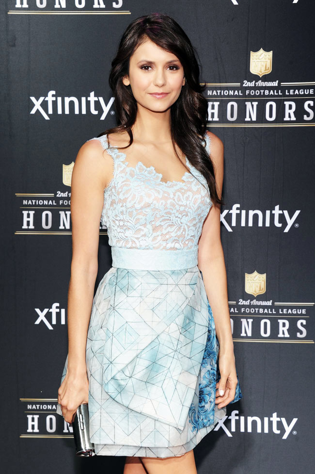 Nina Party3 Nina Dobrev in Zuhair Murad at the 2nd Annual NFL Honors