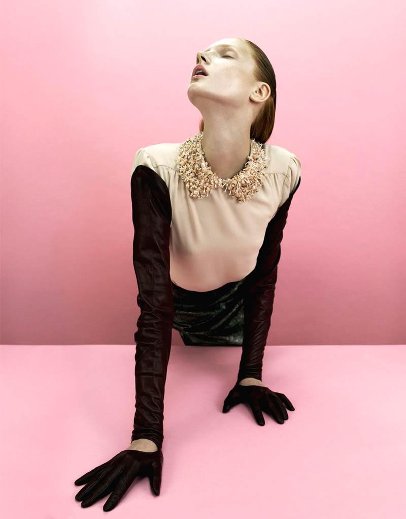 Anastasia Ivanova Poses for Nikolay Biryukov in Used Magazine