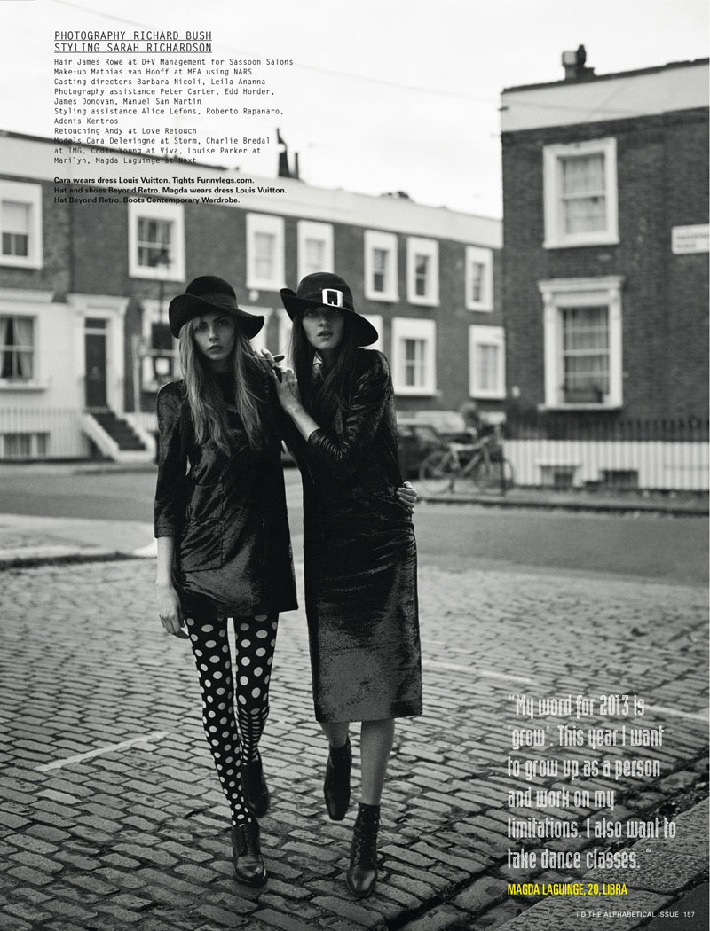 Richard Bush2 Cara Delevingne, Codie Young and Others Grace i Ds Pre Spring Issue by Richard Bush