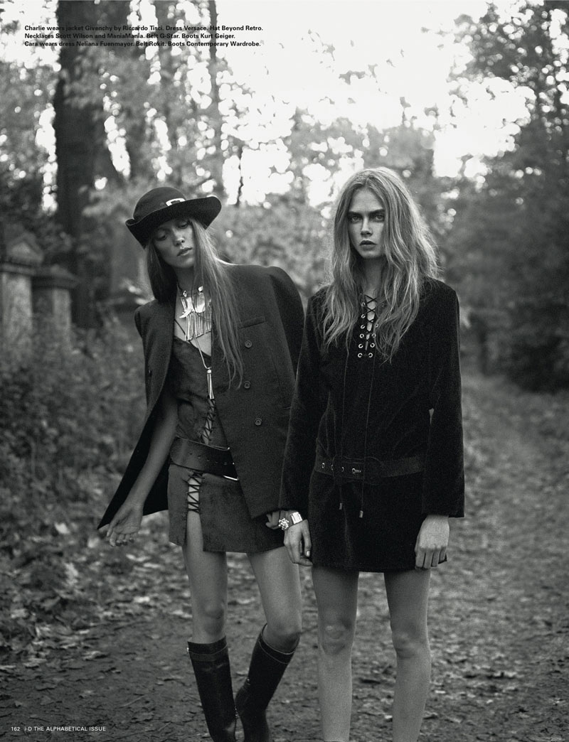 Richard Bush5 Cara Delevingne, Codie Young and Others Grace i Ds Pre Spring Issue by Richard Bush