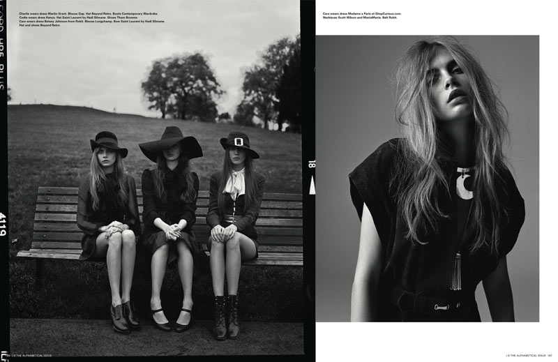 Richard Bush9 Cara Delevingne, Codie Young and Others Grace i Ds Pre Spring Issue by Richard Bush