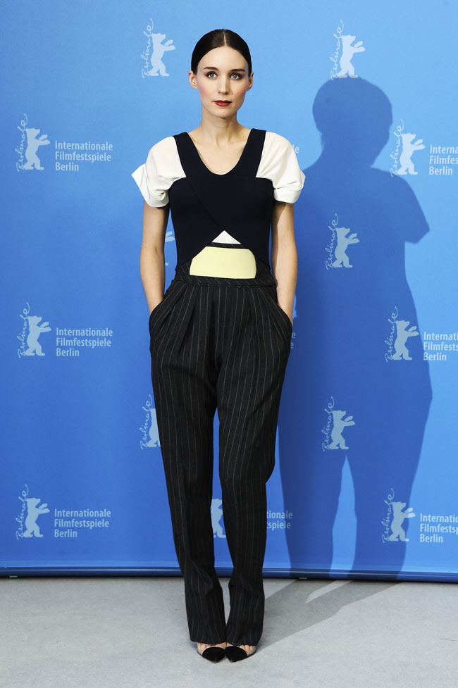 Rooney Mara1 Rooney Mara in Balenciaga at the Side Effects Berlin Photocall