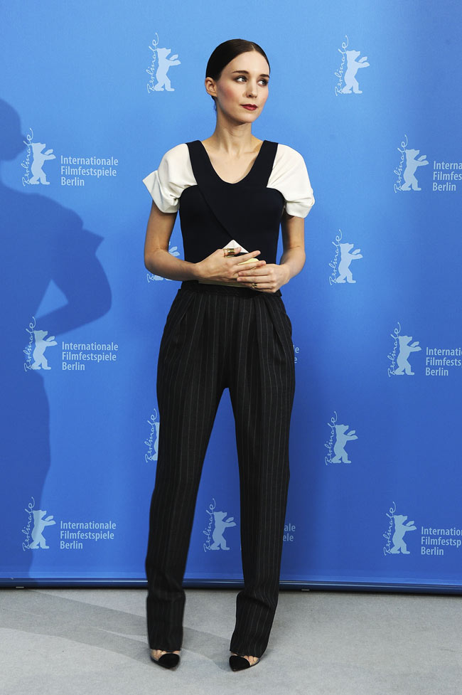 Rooney Mara2 Rooney Mara in Balenciaga at the Side Effects Berlin Photocall