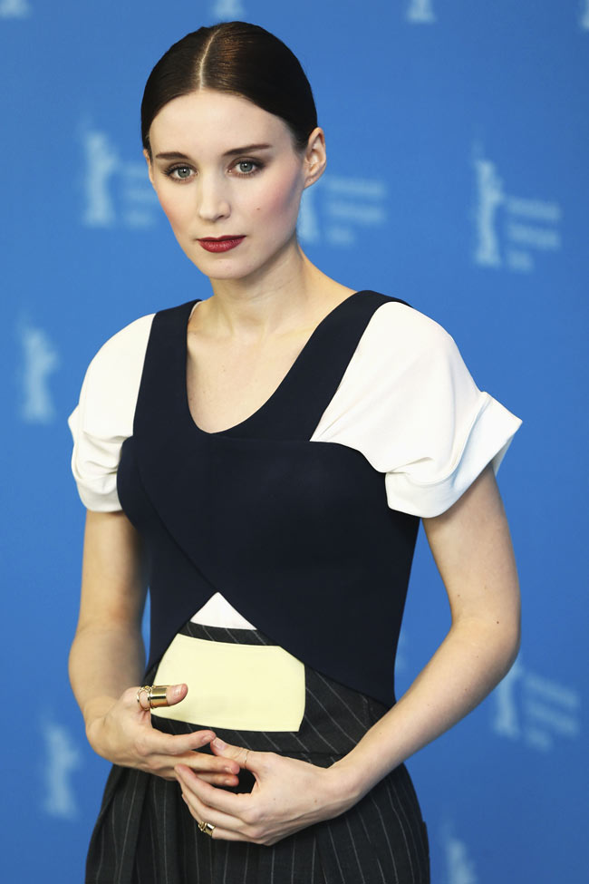 "Rooney Mara in Balenciaga at the ""Side Effects"" Berlin Photocall"