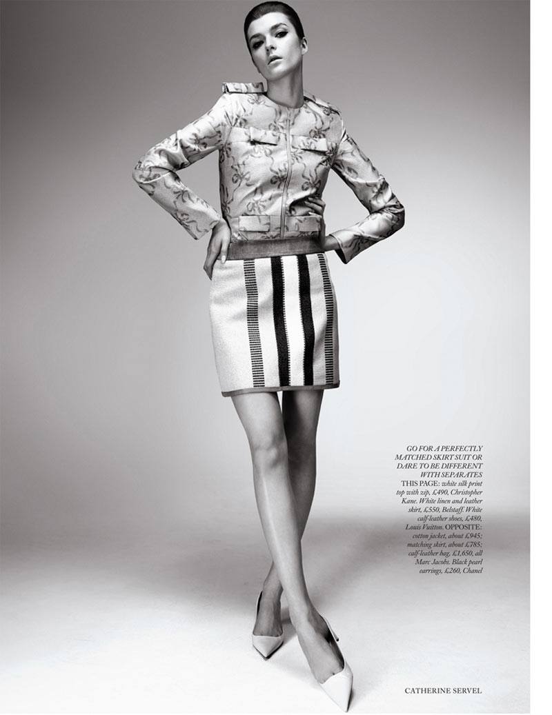 ServelHB5 Zen Sevastyanova Gets Mod for Harpers Bazaar UK March 2013 by Catherine Servel