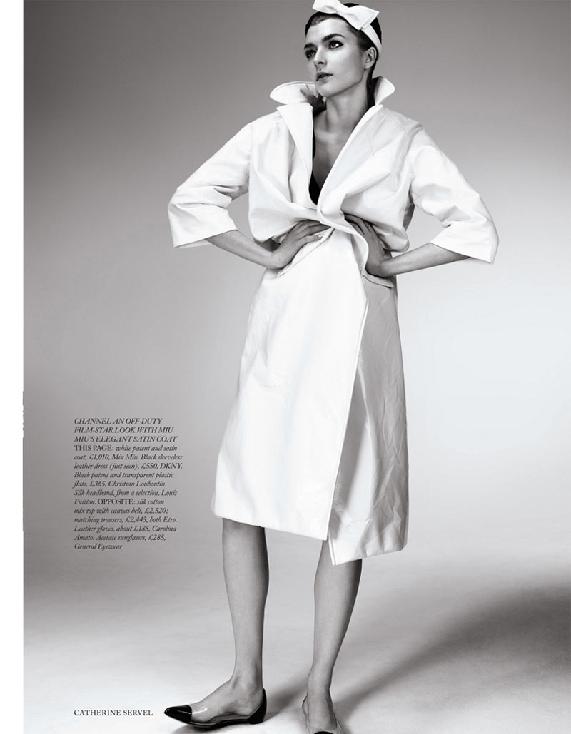 ServelHB8 Zen Sevastyanova Gets Mod for Harpers Bazaar UK March 2013 by Catherine Servel