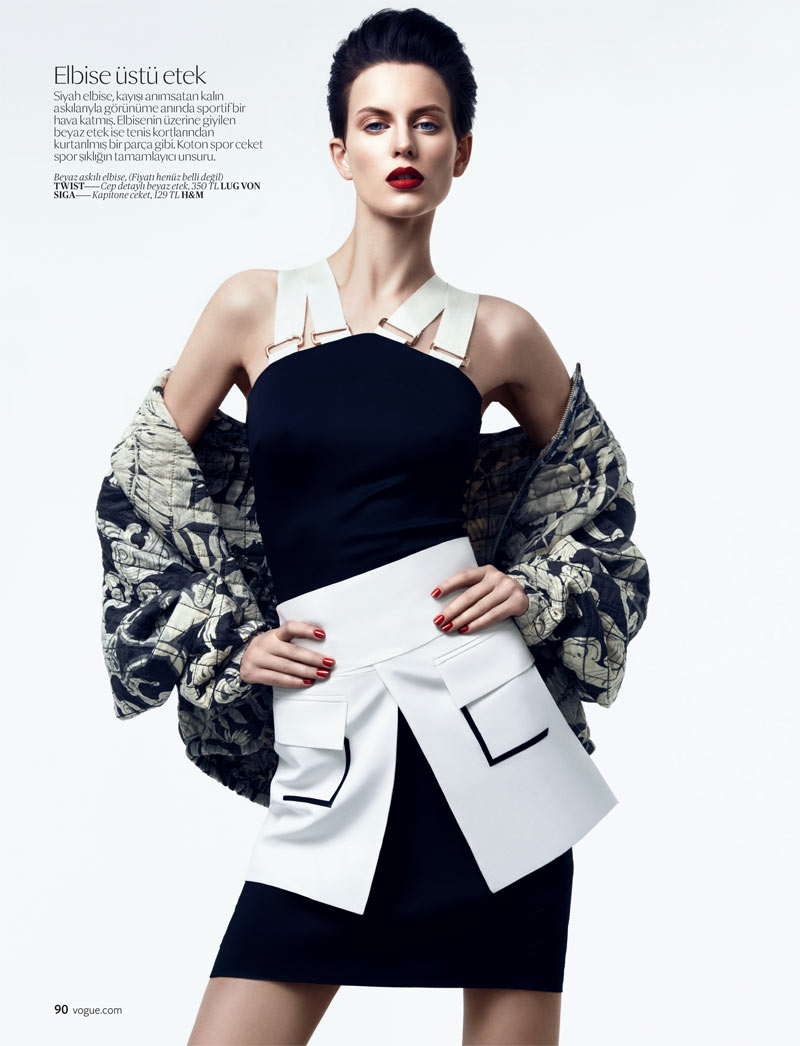 SportEllinore1 Ellinore Erichsen Gets Sporty for the February Issue of Vogue Turkey