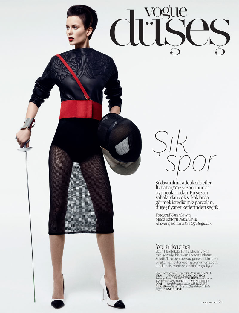 SportEllinore2 Ellinore Erichsen Gets Sporty for the February Issue of Vogue Turkey