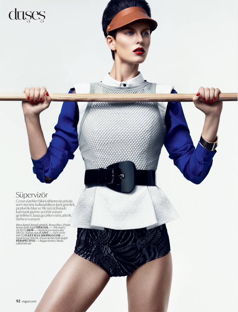 SportEllinore3 Ellinore Erichsen Gets Sporty for the February Issue of Vogue Turkey