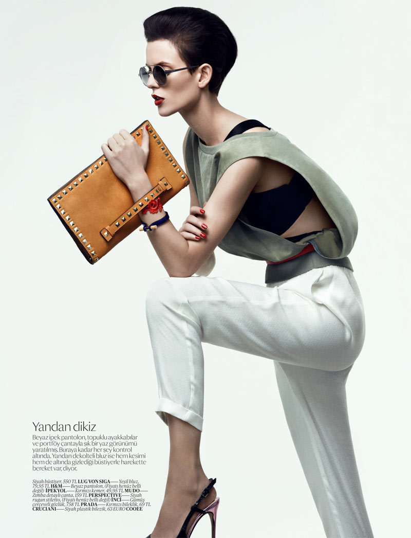 SportEllinore4 Ellinore Erichsen Gets Sporty for the February Issue of Vogue Turkey