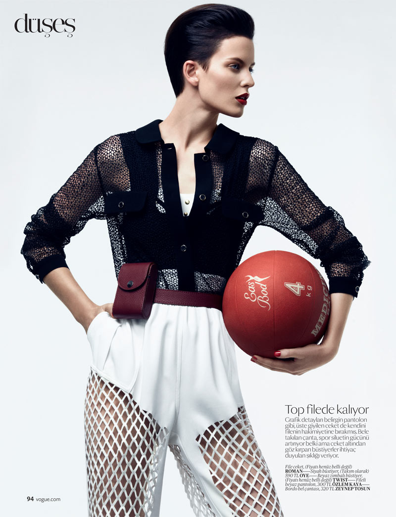 SportEllinore5 Ellinore Erichsen Gets Sporty for the February Issue of Vogue Turkey