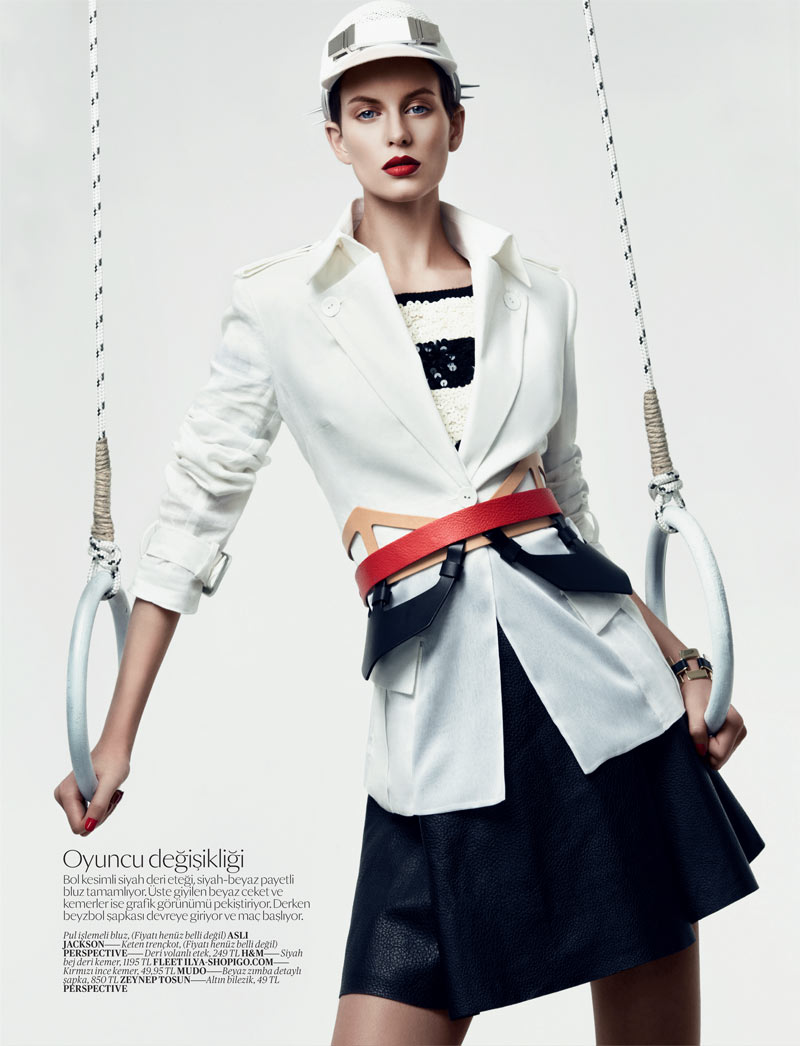 SportEllinore6 Ellinore Erichsen Gets Sporty for the February Issue of Vogue Turkey