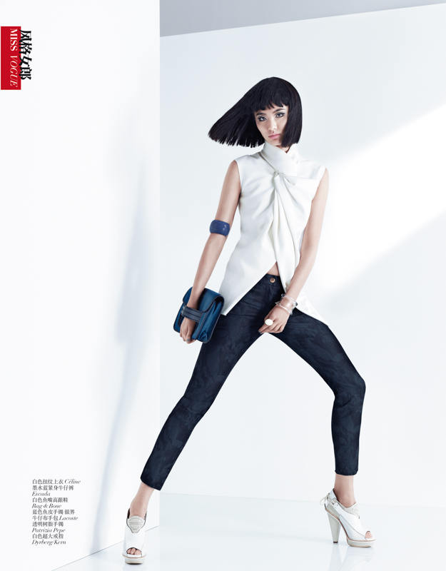 StocktonJohnson VogueChina March2013 7 Bonnie Chen Rocks Denim in Vogue Chinas March Issue by Stockton Johnson