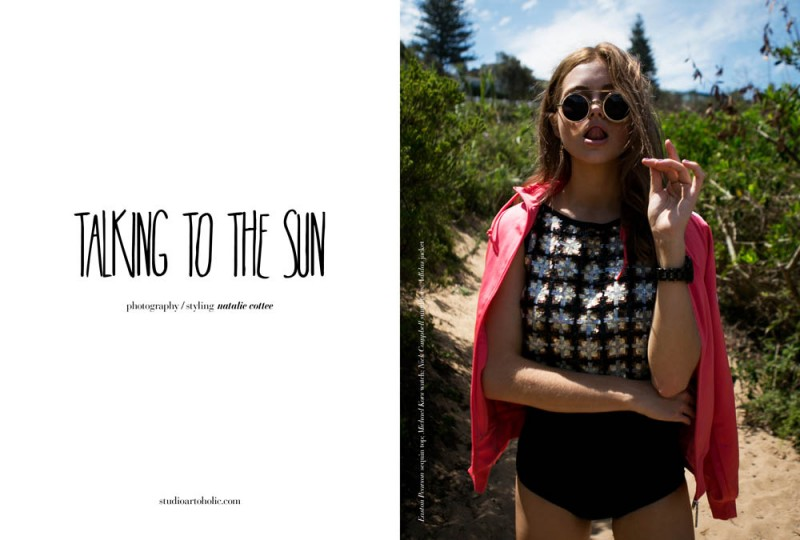 TALKING TO THE SUN1 800x540 Ksenija Lukich Soaks Up the Sun for the Lens of Natalie Cottee