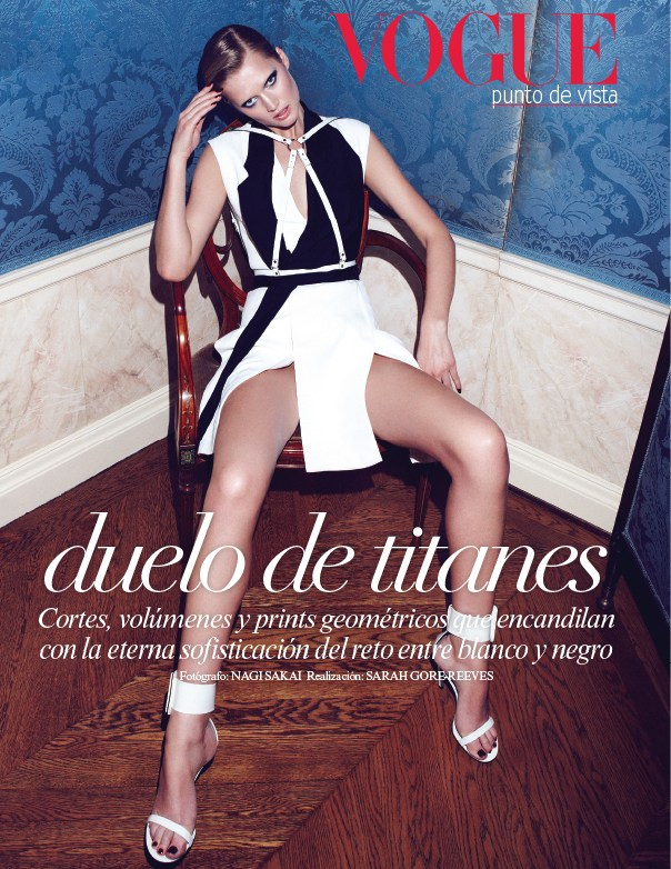 Toni Garrn Vogue Mexico1 Toni Garrn Sports Geometric Prints for Vogue Mexico February 2013 Cover Shoot