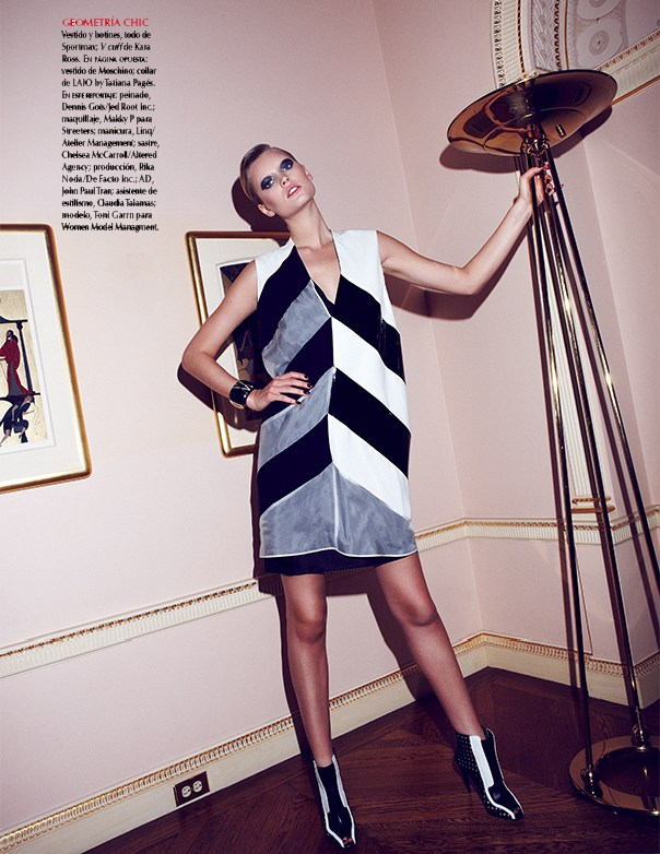 Toni Garrn Vogue Mexico10 Toni Garrn Sports Geometric Prints for Vogue Mexico February 2013 Cover Shoot