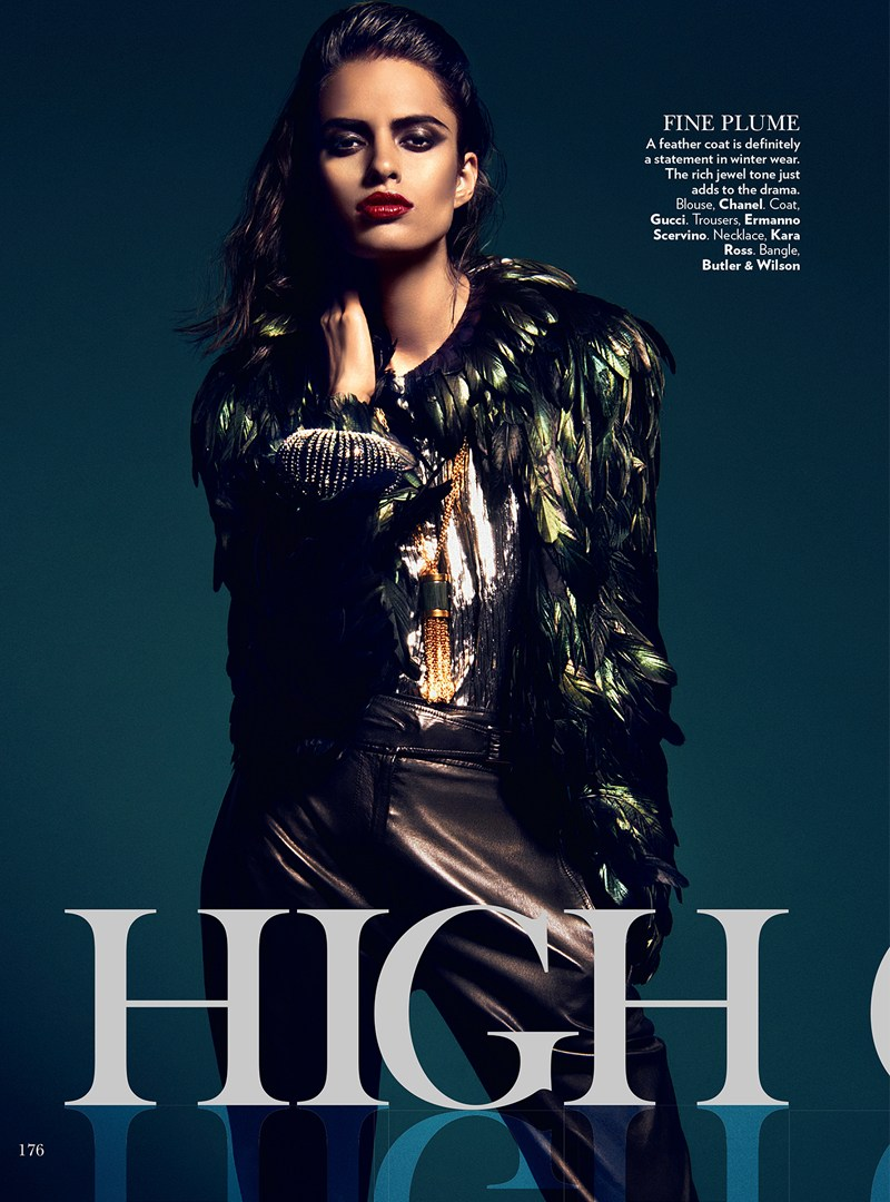 VogueIndia1 Lakshmi Menon Dons Statement Pieces for Vogue Indias February 2013 Issue by Kevin Sinclair