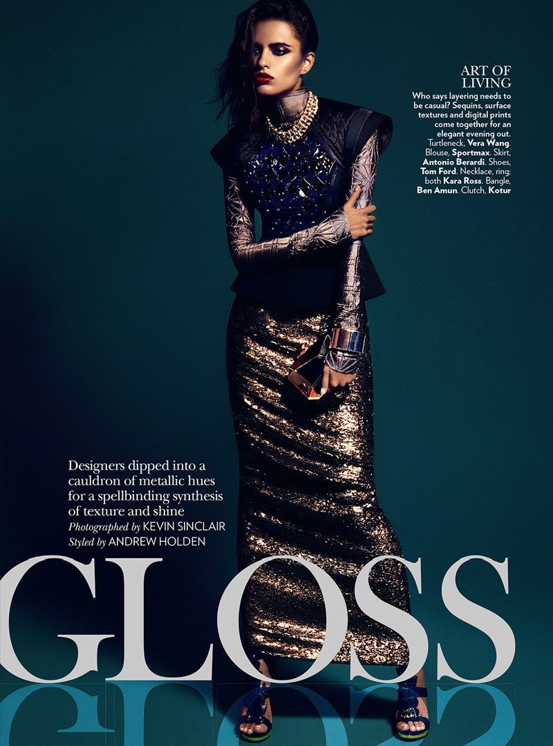 VogueIndia2 Lakshmi Menon Dons Statement Pieces for Vogue Indias February 2013 Issue by Kevin Sinclair